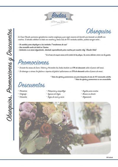 Menú de bodas en Casa Claudio