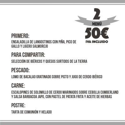 menú comuniones 50€