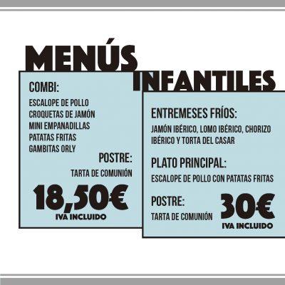Menú de comuniones en Cáceres