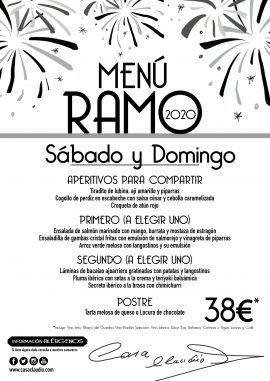 Menú RAMO 2020
